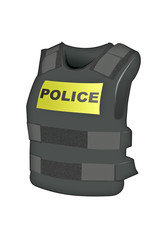 Illustrattion of a Kevlar vest used for protection