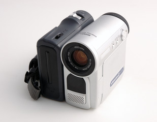 DV video camera with white color back ground