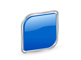 3d blue icon with metal contour poster
