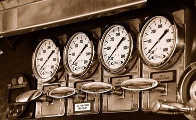 Fire Truck Pressure Valve Gauges