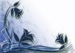 sfondo deco floreale blu