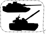 Set tanks silhouettes - 1