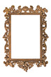 Very old picure golden frame with space for your text/photo.