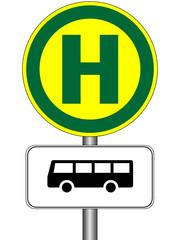 Bushaltestelle - Buslinie sw