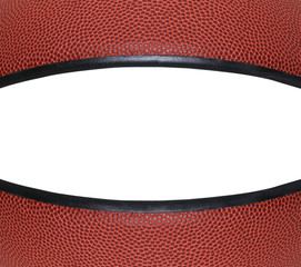 American Basketball Closeup with White Copyspace