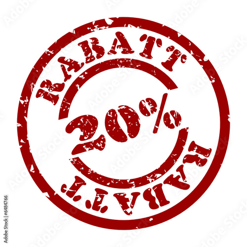Stempel 20 rabatt from wogi royalty free vector 6484766 for Boden 20 rabatt