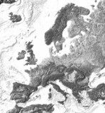 Reliefkarte von Europa