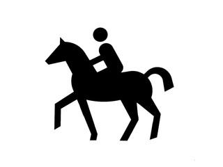 Pferd und Reiter – abstrakt