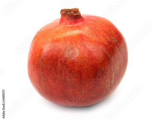 pomegranate fruit isolated on white background