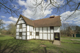 A  half timbered cottage  the midlands worcestershire  poster
