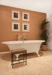 Interior of bathroom in modern house