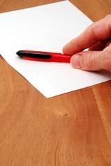Prepared to write a letter