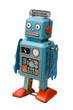 Leinwanddruck Bild - retro robot toy