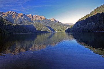 majestic mountain lake landscape photo