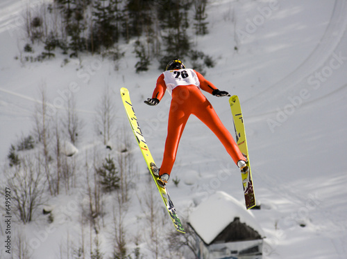 Fotobehang Wintersporten winter extreme sport photo