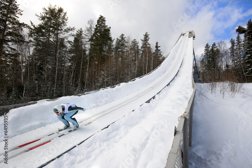 Plexiglas Wintersporten winter extreme sport photo