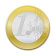 1 Euro coin, realist vector illustration