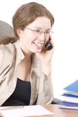 The secretary speaks on phone IV