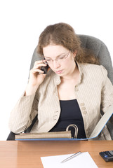 The business woman with phone III