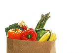 Groceries bag with vegetables poster