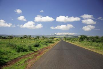 Straight Road to Mount Kenya