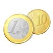 Pièce de un euro et dix cents