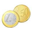 Pièce de un euro et cinquante cents