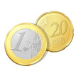 pièce de un euro et vingt cents