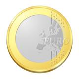pièce euro sans inscription poster