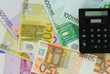 Euro notes and calculator
