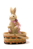 Happy Easer bunny in a basket