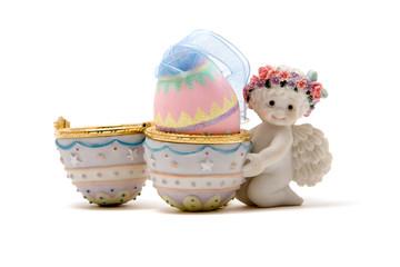 Happy cute Easter angel