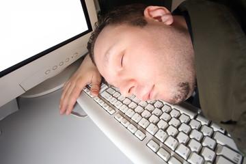 Sleeping hacker