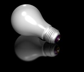 Light Bulb on black