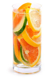Citrus beverage poster