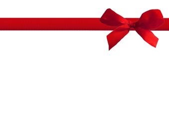 rote Schleife mit Geschenkband