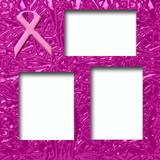 pink ribbon scrapbook page poster