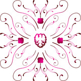classy seamless repeating design in magenta and black poster