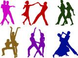 Fototapety dancing couples
