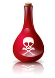 Fiole de poison rouge sang poster