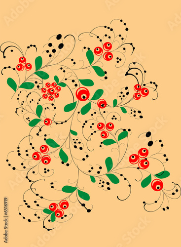 red berries decoration