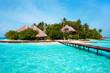 Leinwanddruck Bild - Island in the Ocean. Welcome to Paradise!
