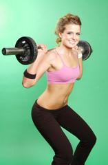 sexy girl exercising