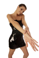 woman is stretching her hands