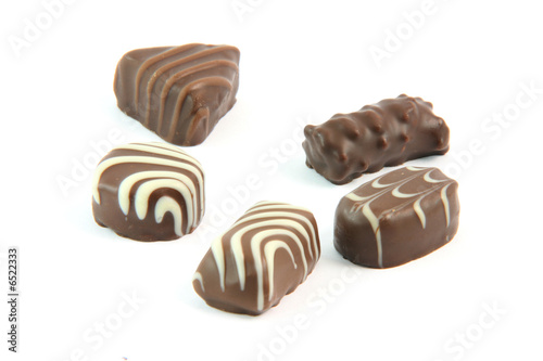 five chocolates