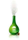Fiole de poison verte et sa fumée poster