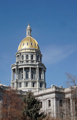 Gold Dome on the Colorado State Capitol Building