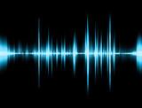 Fototapety Graphic of a digital sound on black bottom