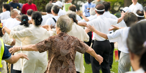 Mass Public Exercise for the Elderly