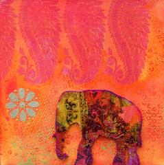 Elefant Kollage
